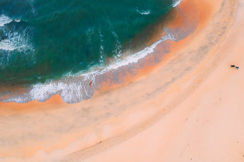 Top View Photo of Seashore