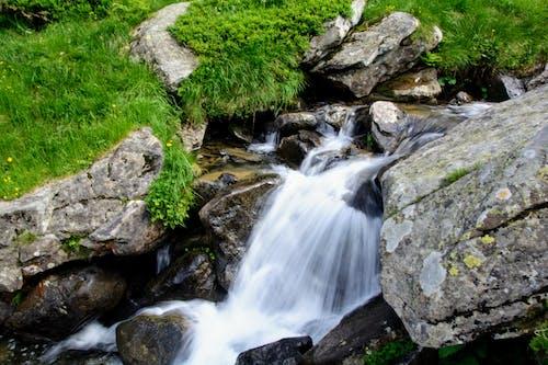 山, 山岳, 滝, 自然の無料の写真素材