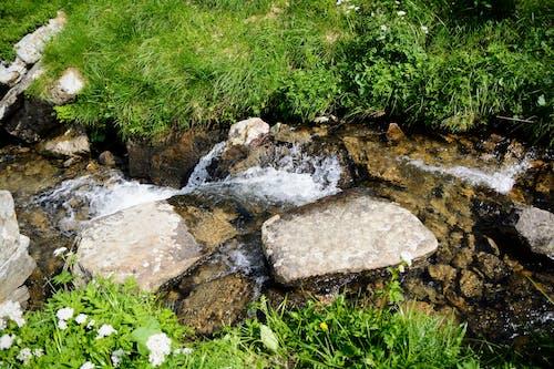 山, 水, 石, 自然の無料の写真素材