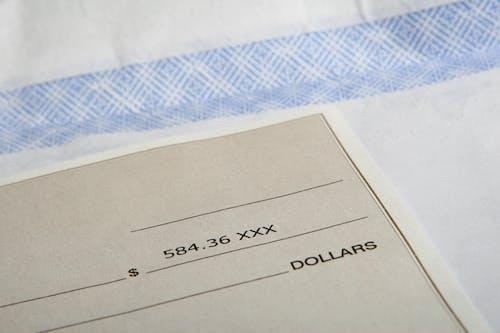 お金, チェック, ドル, ノートの無料の写真素材