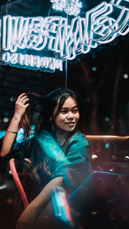 Gratis arkivbilde med asiatisk kvinne, lysrefleksjoner, modeller