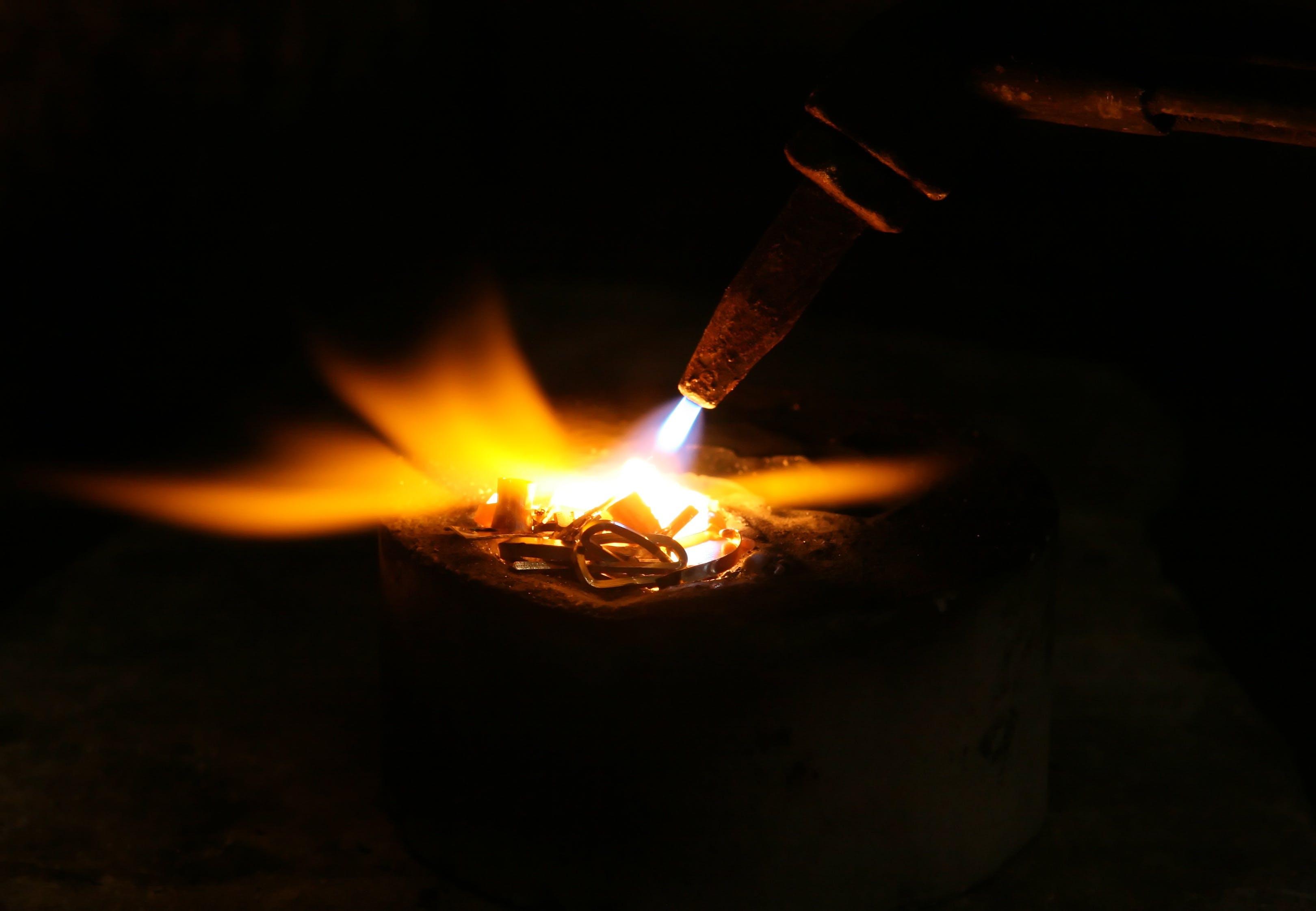 Free stock photo of light, industry, metal, pot