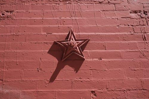Free stock photo of brick wall, red, star, wall