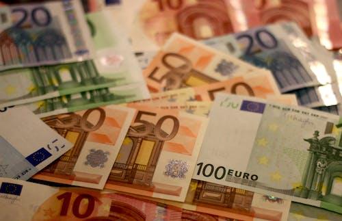 Foto profissional grátis de cédulas, dinheiro, euros, notas