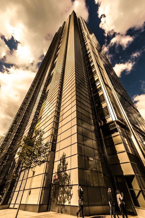 건축, 고층, 로우앵글 샷, 세피아의 무료 스톡 사진