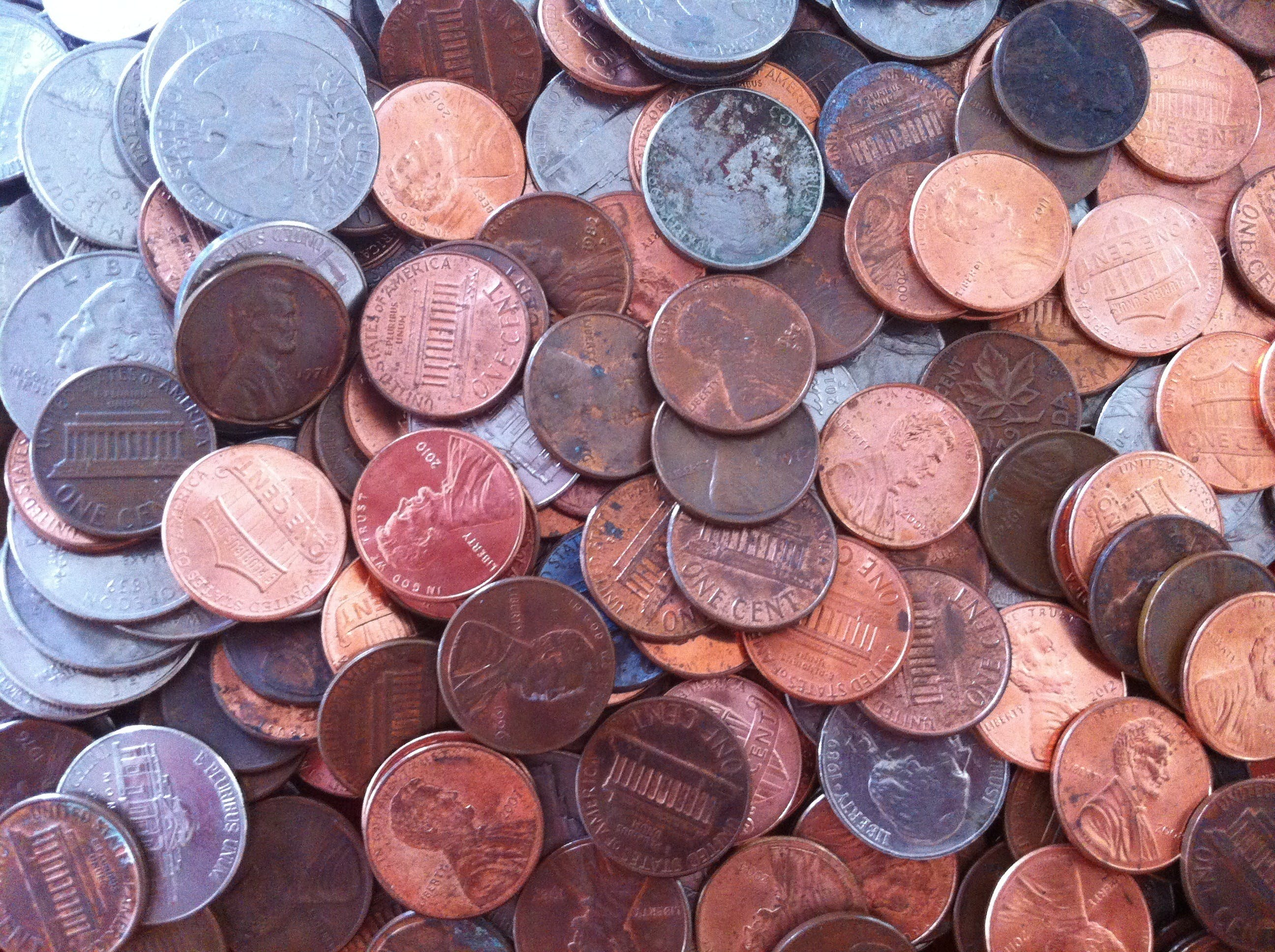 Free stock photo of money, cents, coins, finance