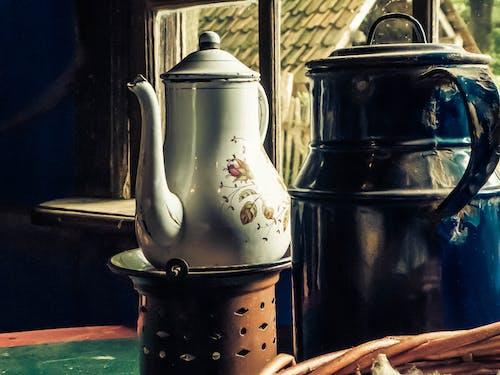 Ảnh lưu trữ miễn phí về ấm trà, đồ cũ, nấu ăn ngoài trời, thủ công
