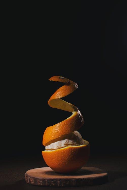Close-Up Photo Of Peeled Orange