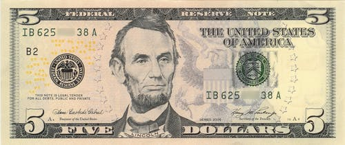 5 Us Dollar Banknote
