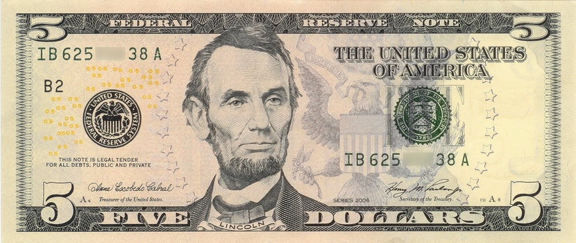 Free stock photo of money, cash, dollar, abraham lincoln