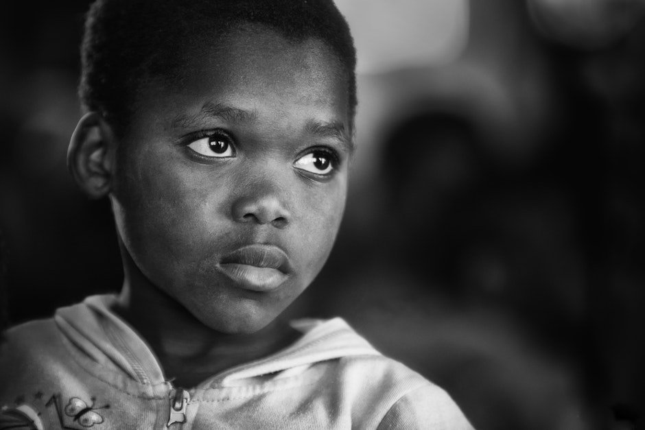 black-and-white, boy, child