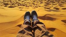 sunset, beach, sand