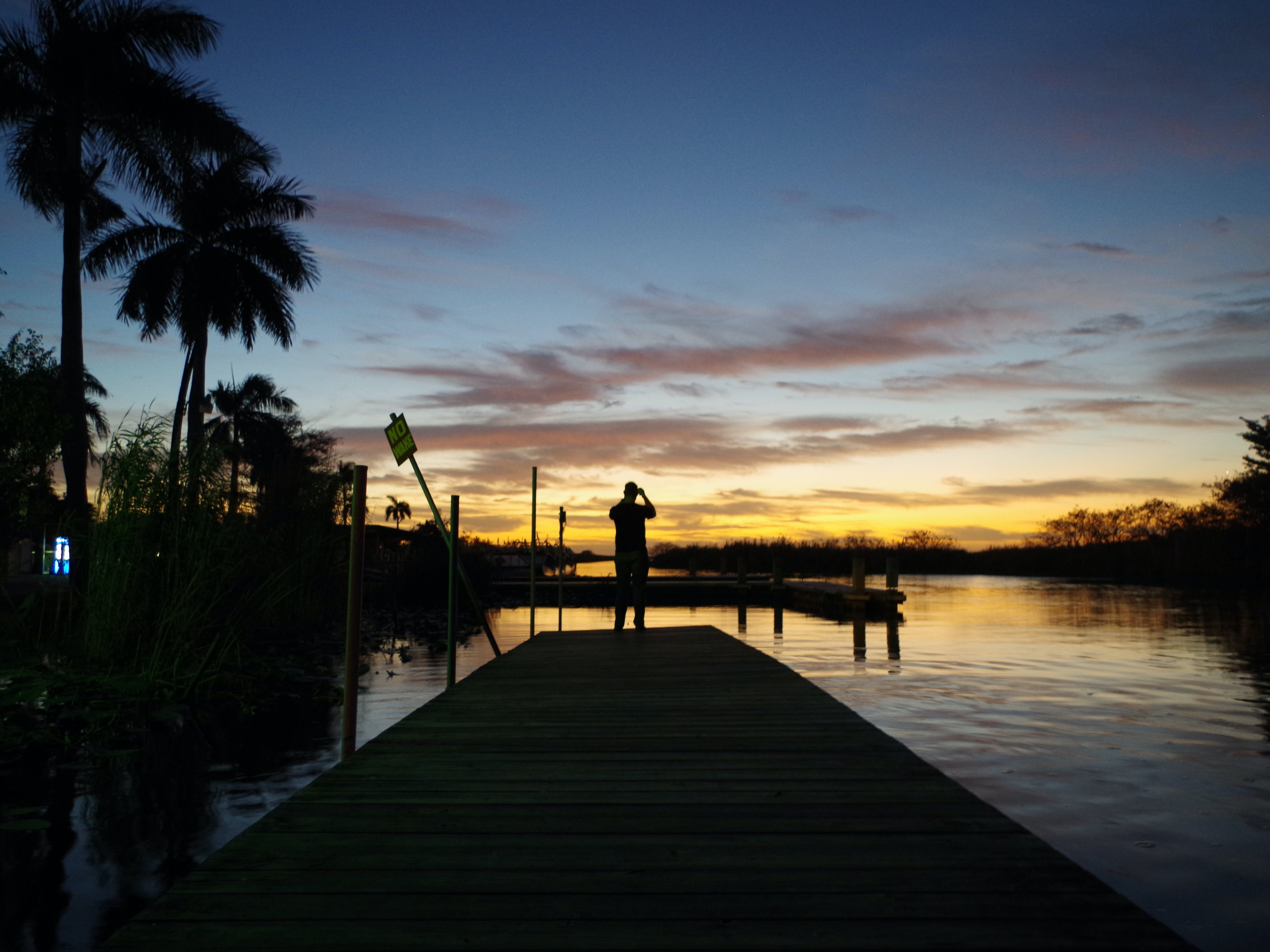 Free stock photo of dock, everglades, sky, sunset