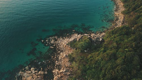Aerial Photo of Rocky Shore