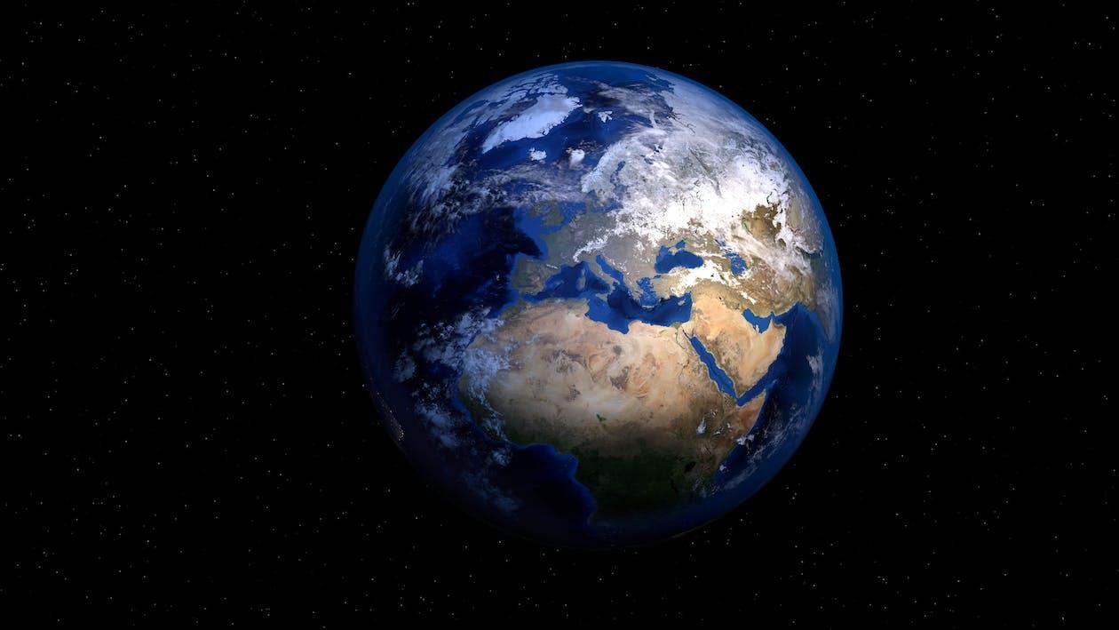 3d model, africa, earth