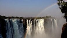 africa, waterfall, spray