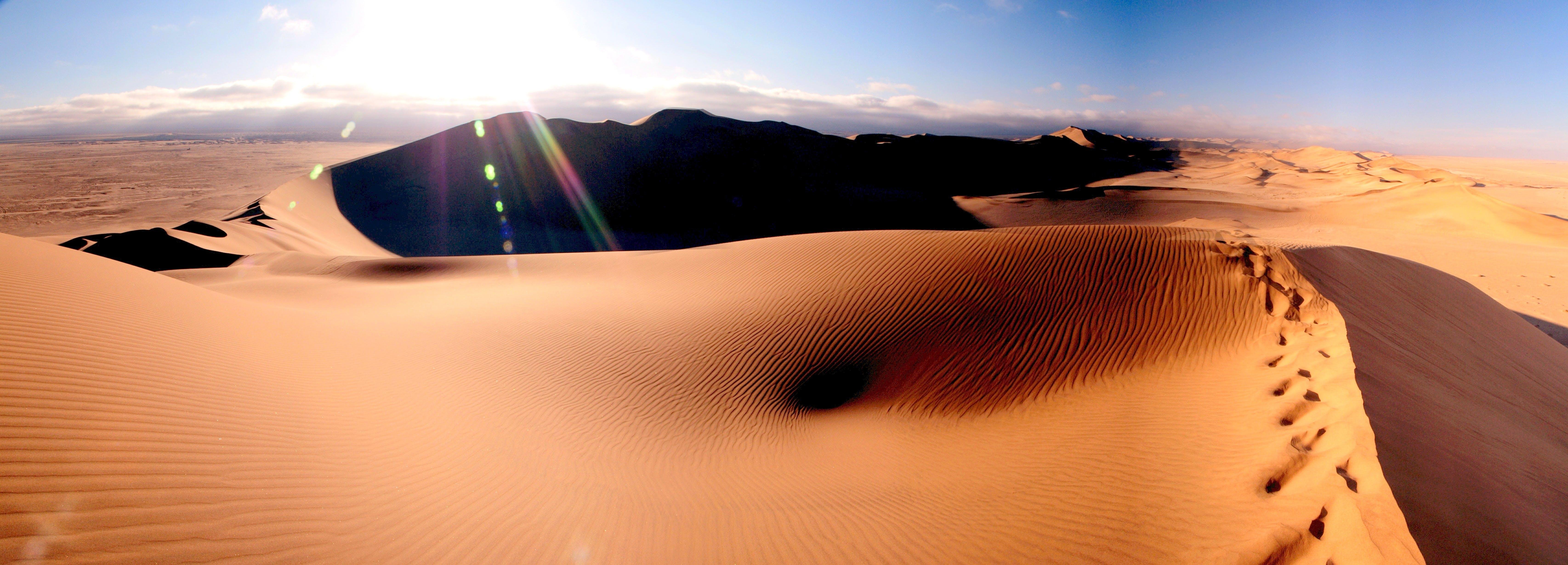 desert, dunes, hot