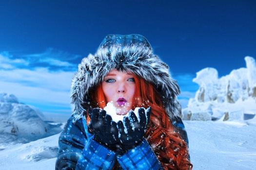 Free stock photo of cold, snow, landscape, fashion