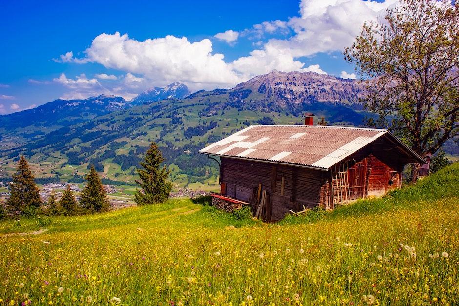 barn, building, cabin