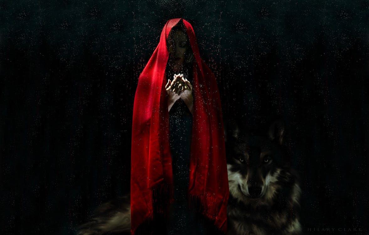 Woman Wearing Red Cloak