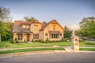 house, grass, lawn