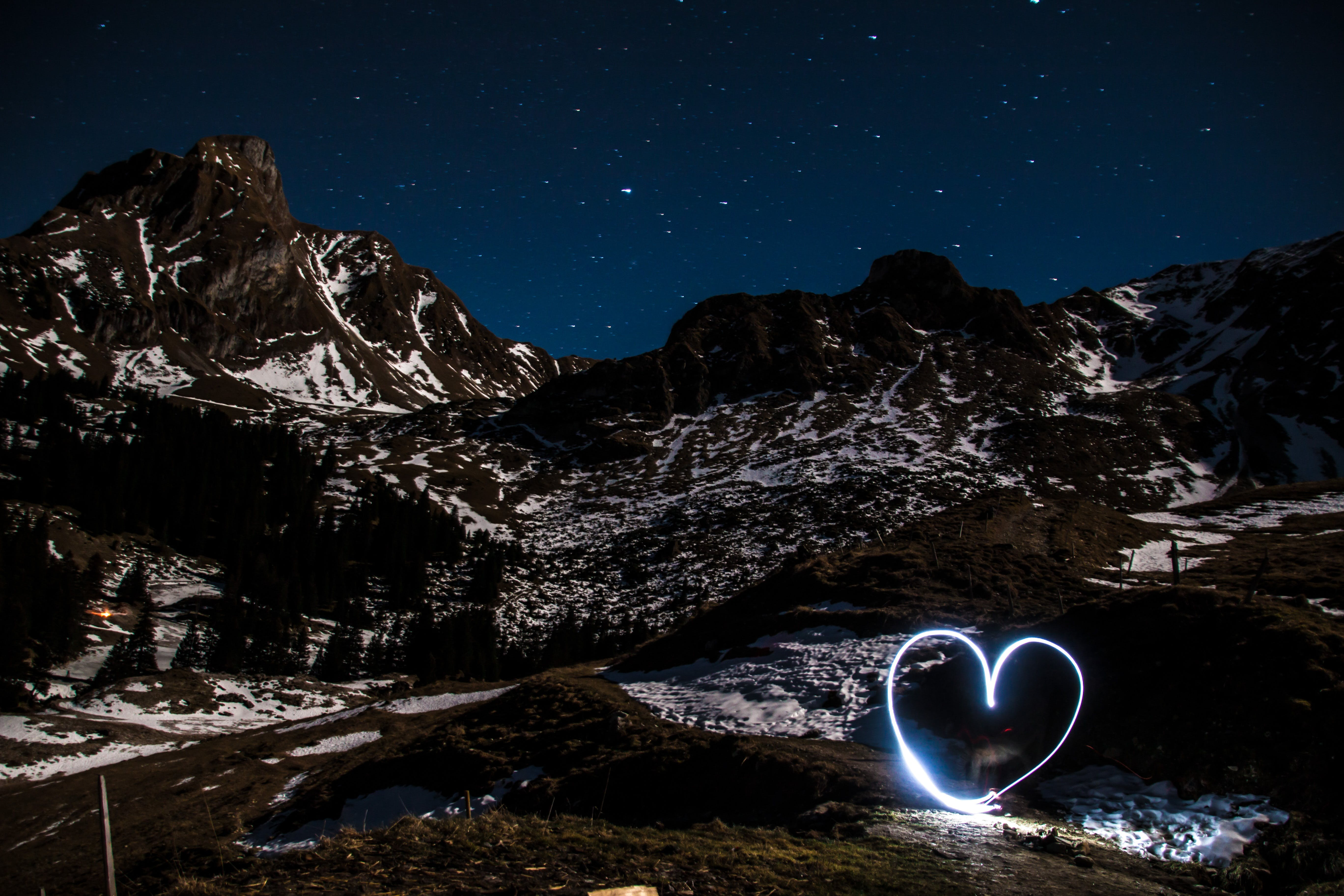 Heart Light and Tundra Mountain Photography