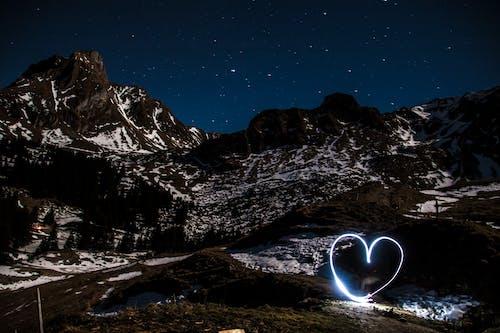Foto d'estoc gratuïta de amor, cel estrellat, clareja, constipat