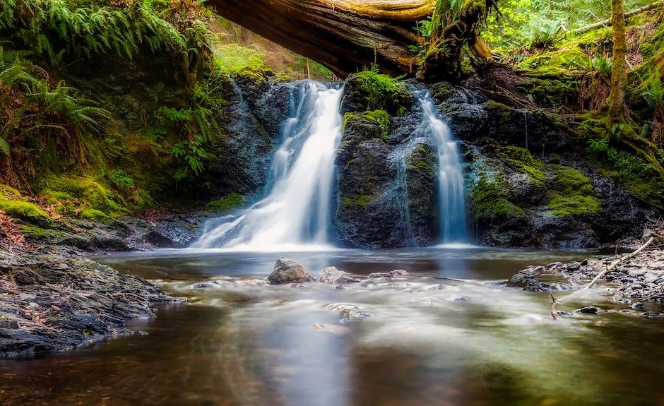 beautiful, brook, cascade
