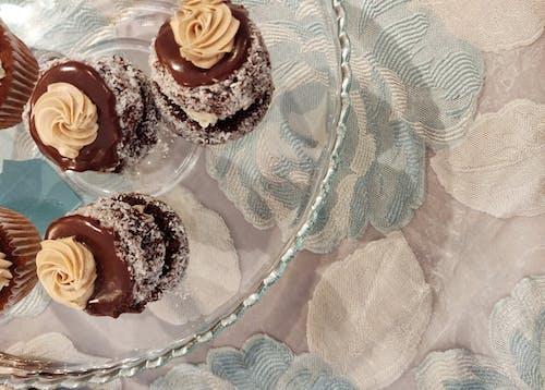 チョコレートスポンジケーキのラミントンの無料の写真素材