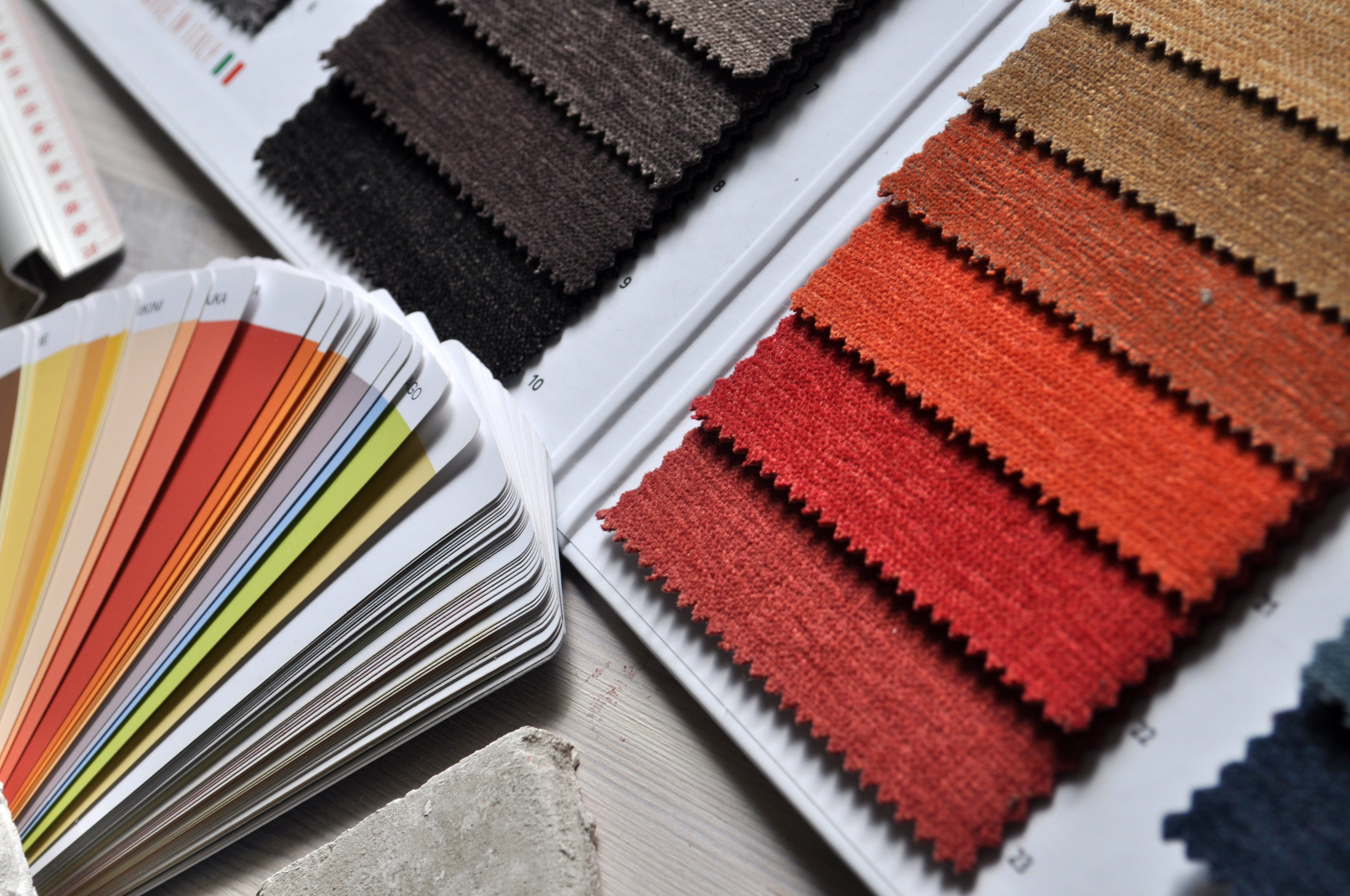 Assorted-color Papers on Gray Surface