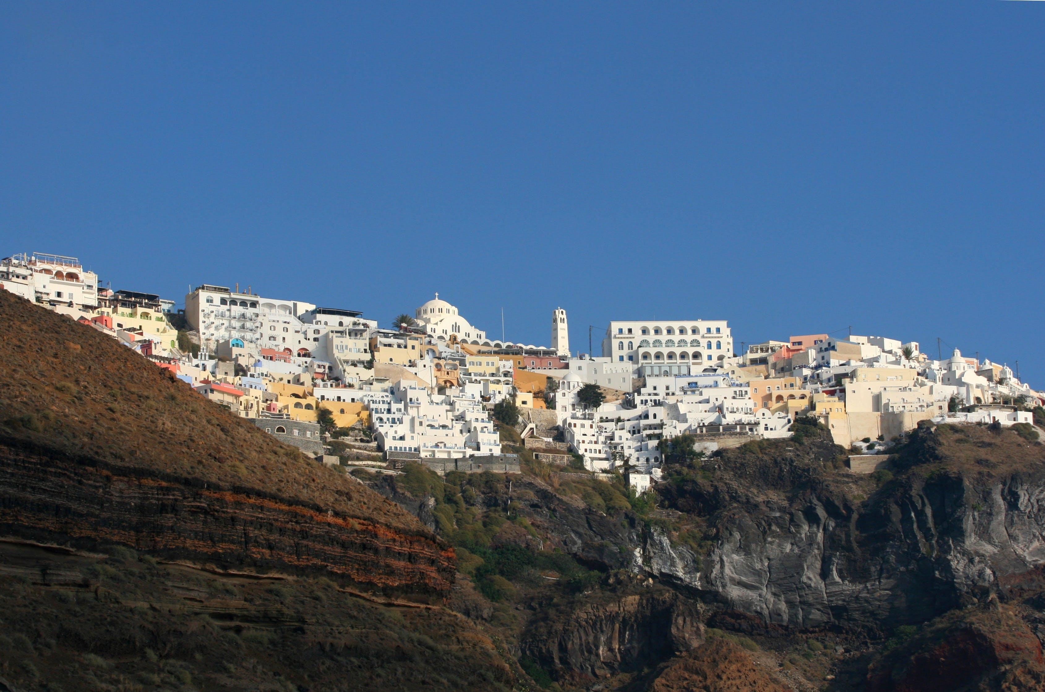 Free stock photo of blue, caldera, cyclades, greece