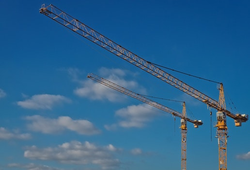 Free stock photo of sky, cranes, crane, technology