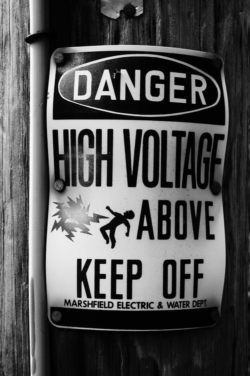 Free stock photo of danger, high voltage, sign
