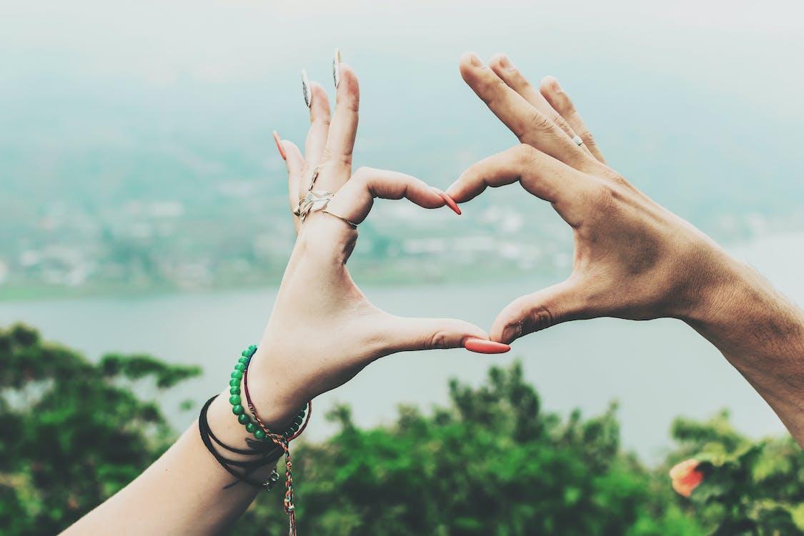брак, в форме сердца, влюбленные