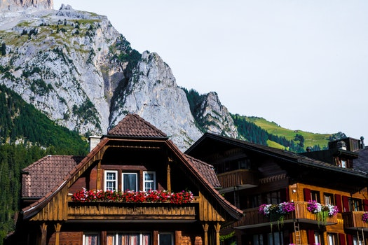 Free stock photo of wood, landscape, mountains, houses