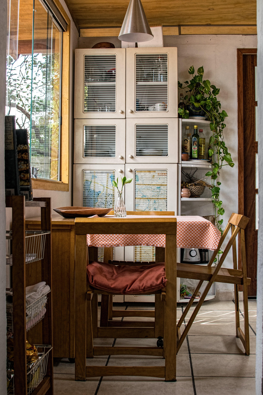 cabinet, chair, clean