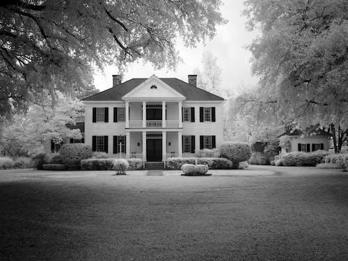Immagine gratuita di architettura, beni immobili, bianco e nero, facciata