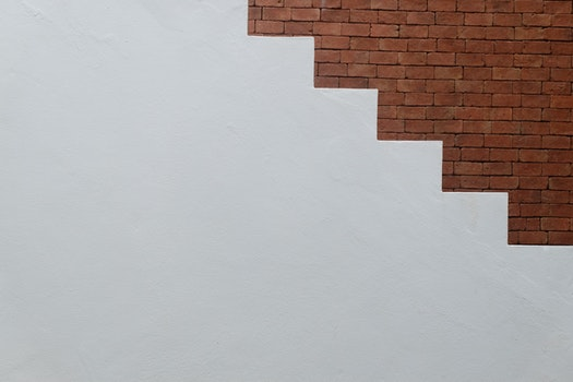 Free stock photo of stairs, bricks, wall, clean