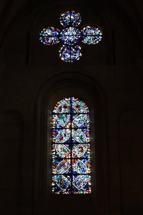ステンドグラス, ステンドグラスの窓, フランス, リヨンの無料の写真素材