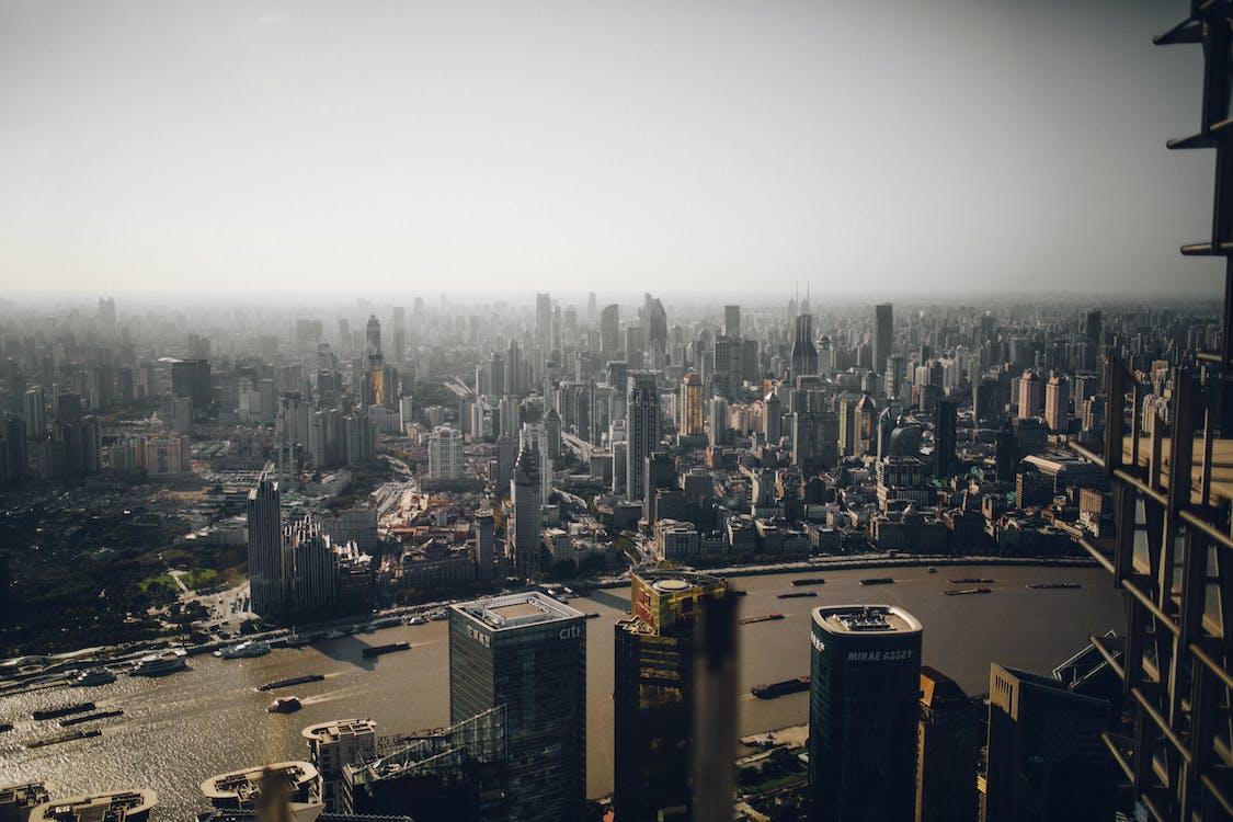 aerofotografia, arquitetura, arranha-céus