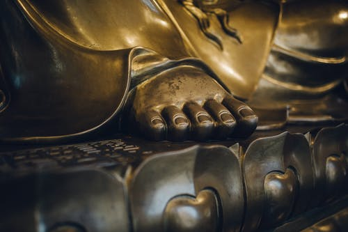 Golden Statue Feet