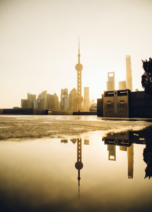 Foto profissional grátis de alvorecer, arquitetura, arranha-céus, cair da noite