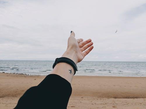 레저, 모래, 문신, 문신을 한의 무료 스톡 사진