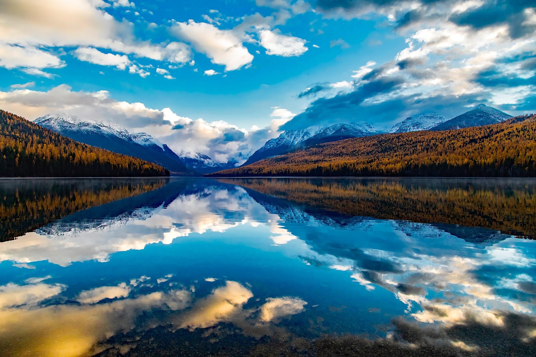 Free Stock Photo Of Clouds Lake Lake Mcdonald