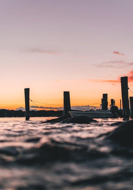 člun, dok, moře