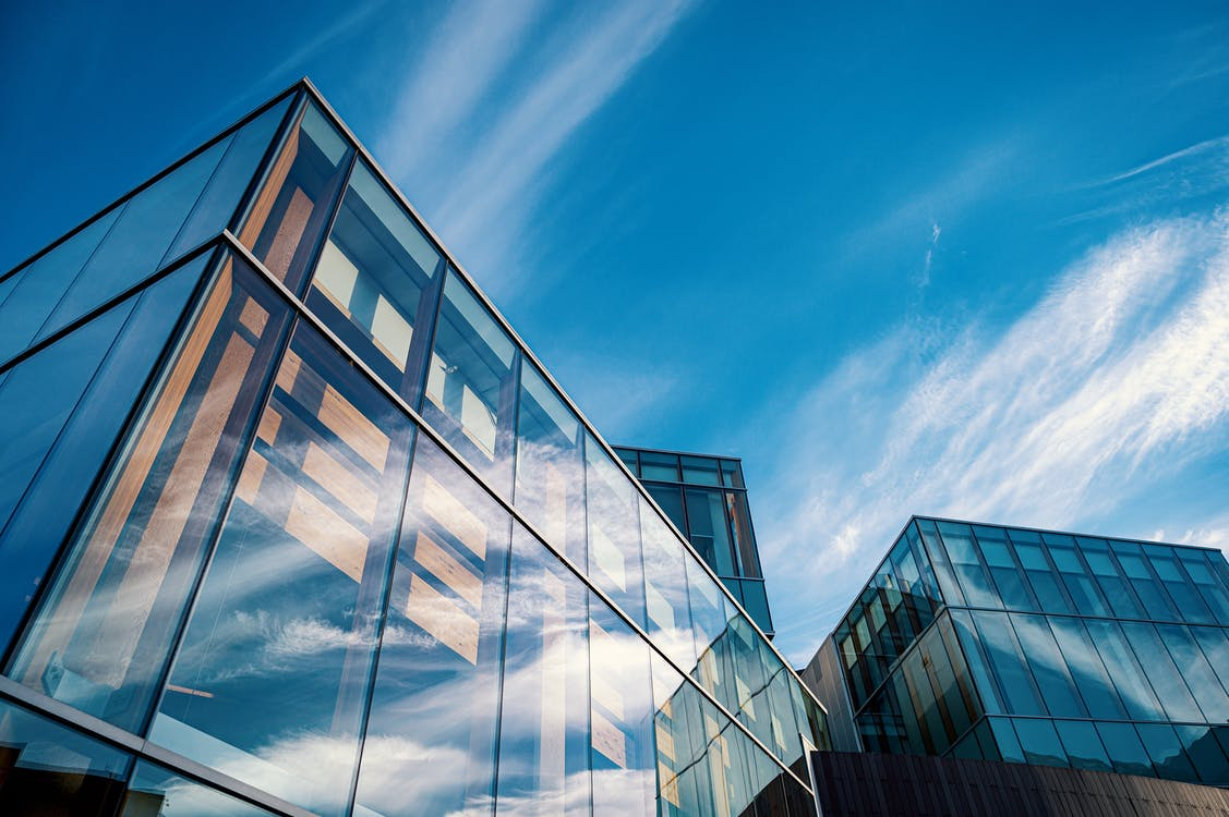 Low-Angle Photo of Glass Buildings