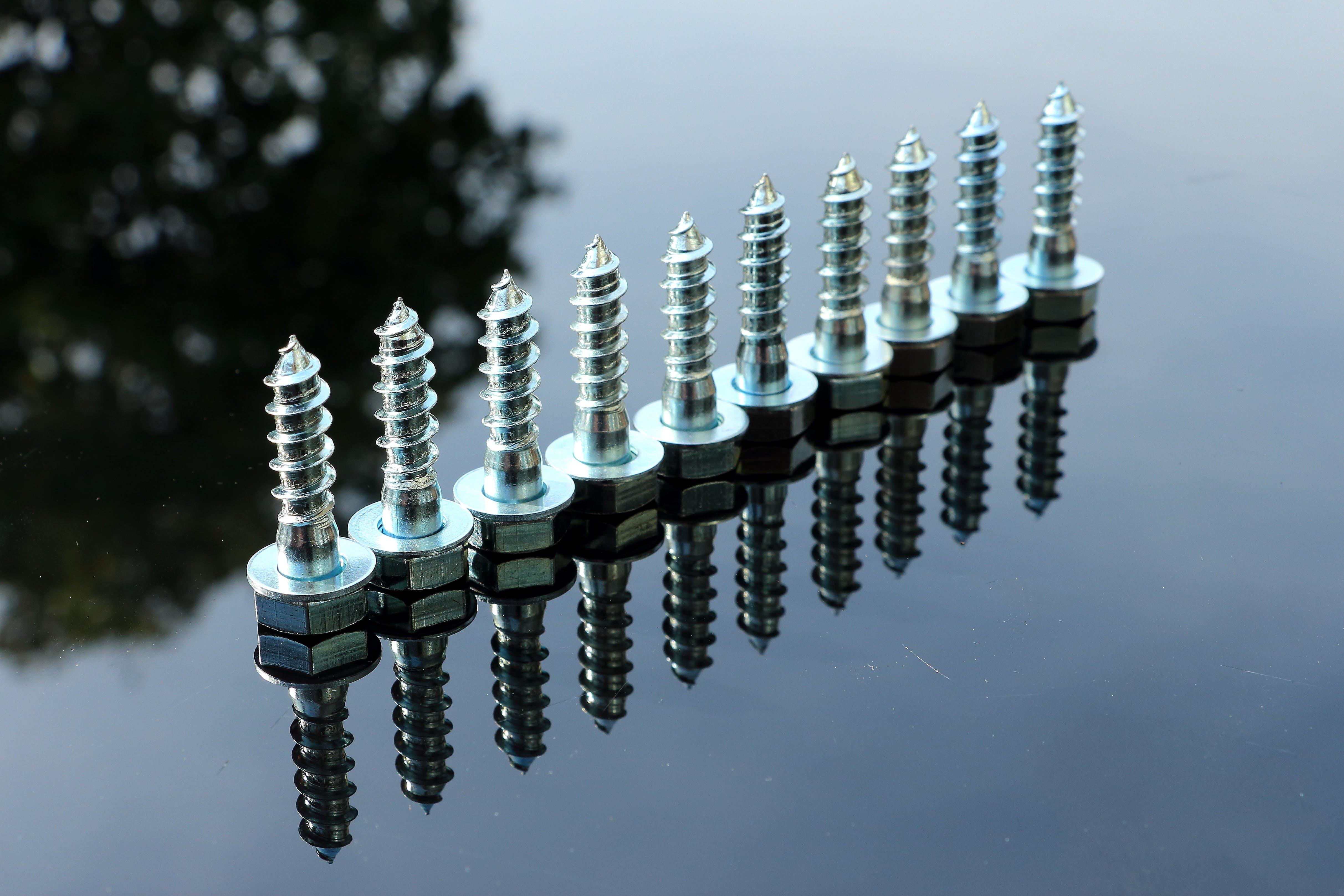 Free stock photo of reflection, screw