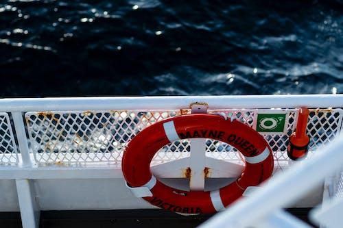 Photos gratuites de balustrade, bateau, bouée, brouiller