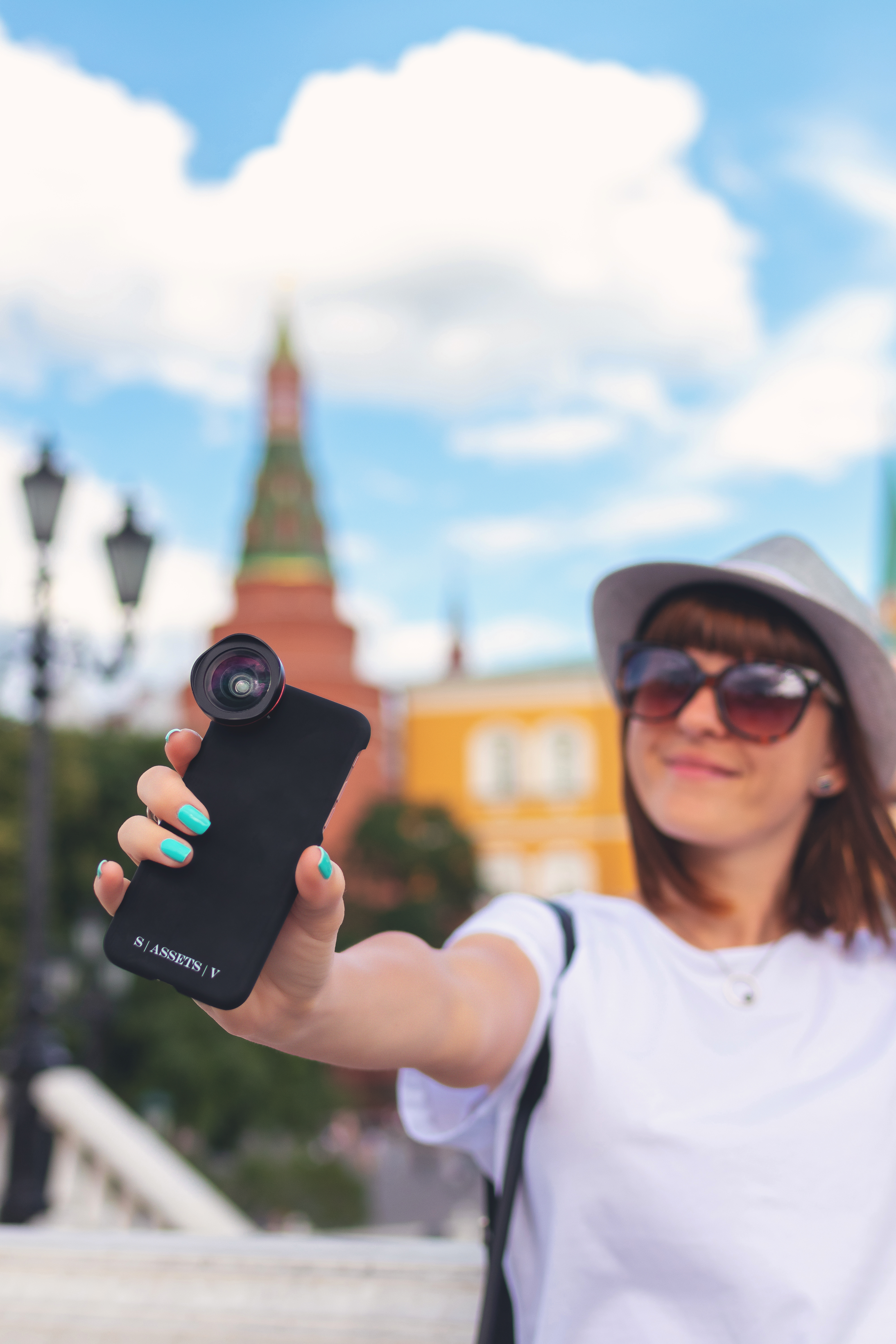 Woman Holding Android Smartphone