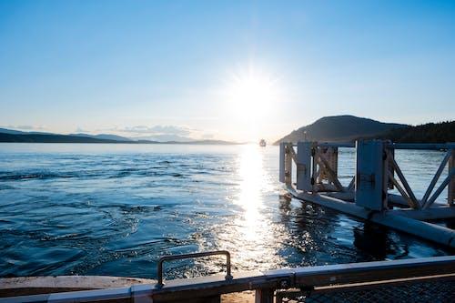 Photos gratuites de coucher de soleil, ferry, îles, jetée